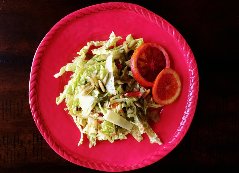 Savoy Blood Orange Salad with Manchego & Pepitas