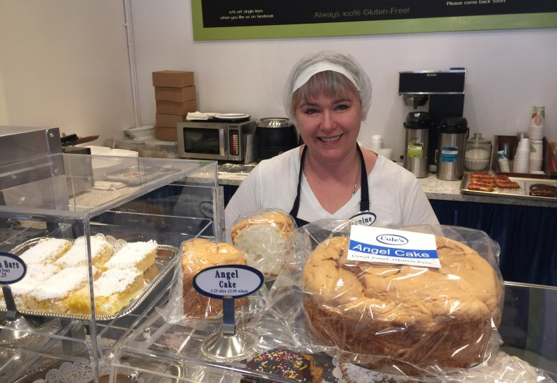 Jeanine, owner of Cole's Gluten-free Bakery