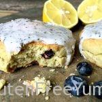 GF Lemon Blueberry Scone with Earl Grey Lemon Glaze