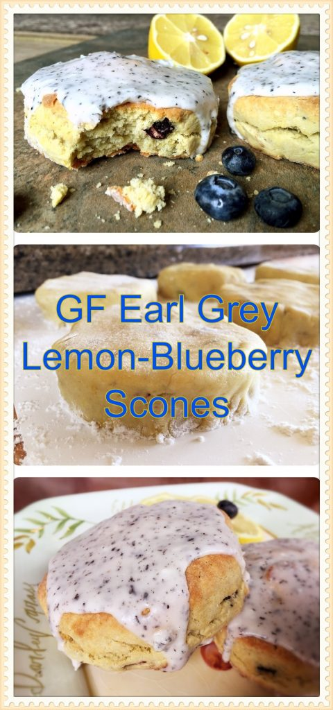 Earl Grey Lemon Blueberry Scones