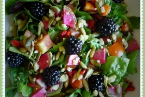 Blackberry & Watermelon Radish Summer Salad