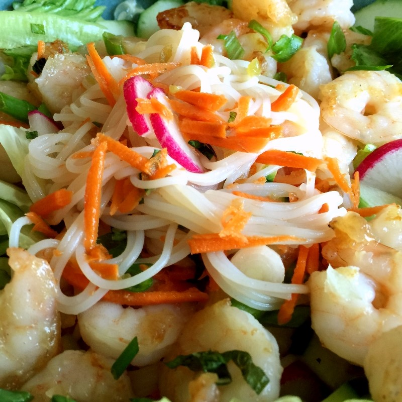 Gluten-free Vietnamese Shrimp Salad Bowl