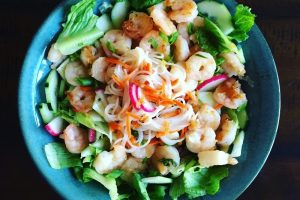 Vietnamese Shrimp & Rice Noodle Salad