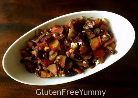 Roasted Apple, Fennel & Beets with Honey Balsamic Glaze