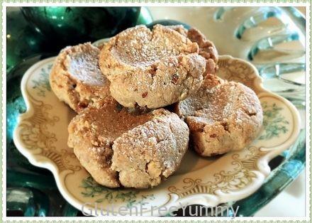Grain-free Christmas Spiced Thumbprint Cookies