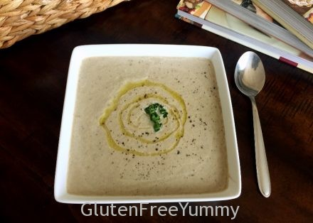 Cream of Mushroom Soup with Black Truffle Oil