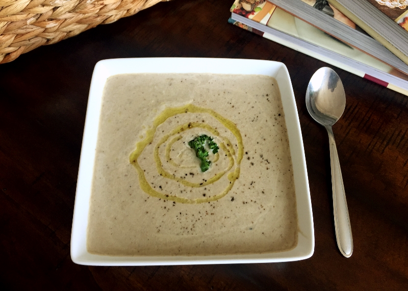 Mushroom Soup with Black Truffle Oil