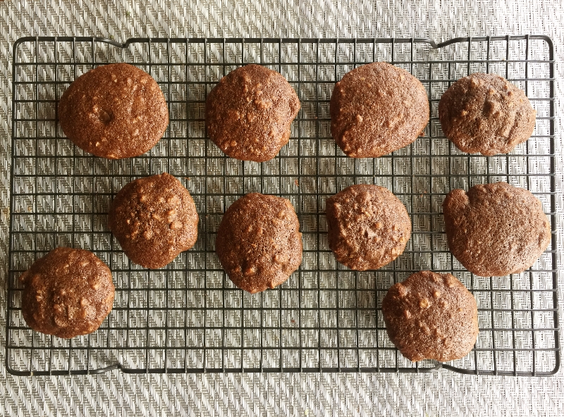 Chocolate Fudge Cookies on Cooling Rack
