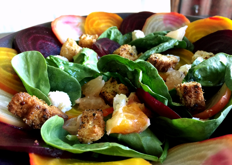 Beet & Citrus Salad with GF Croutons