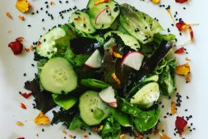 Black Sesame & Calendula Asian Salad