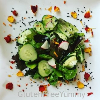 Black Sesame & Calendula Asian Garden Salad