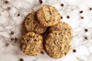 High Fiber Keto Chocolate Chip Cookies